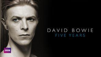 Netflix box art for David Bowie: Five Years